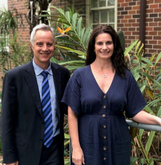Dr Geoff Brieger and Maria Cosmidis